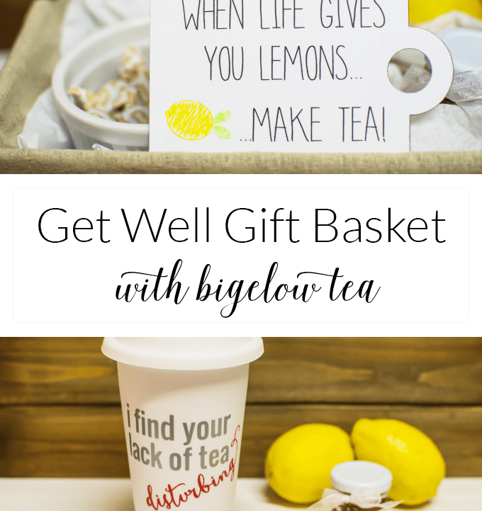 Get Well Gift Basket with Bigelow Tea