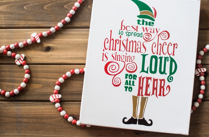 Christmas Crafts | Vinyl Crafts | Buddy the Elf | Christmas Movies