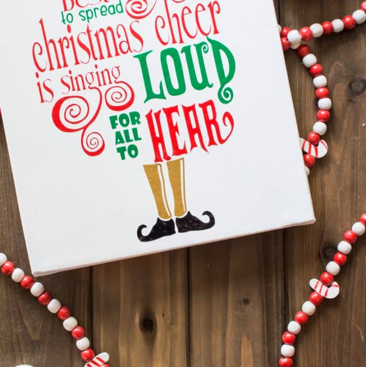 Spread some Christmas cheer with this canvas art from the movie Elf! Give it as a gift or keep it as a reminder to sing loud & proud this holiday season!