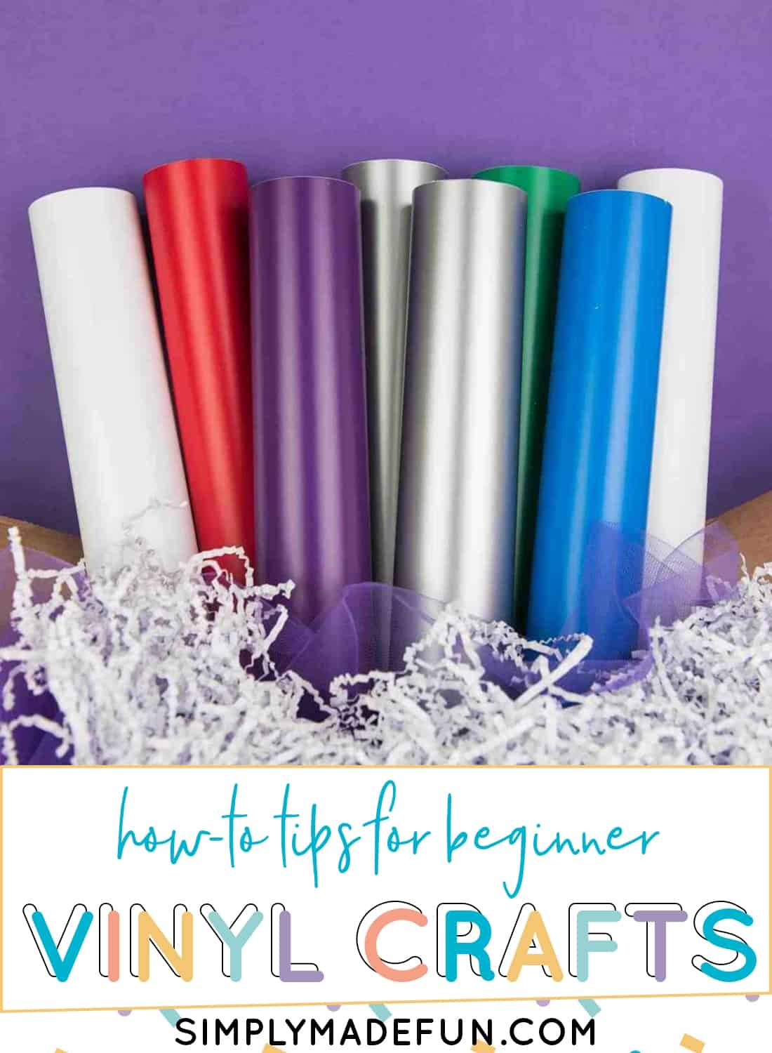 Don't be nervous to craft with vinyl! I've got 15 beginner projects for you to try and tips to make the beginner vinyl crafts easy and fun!