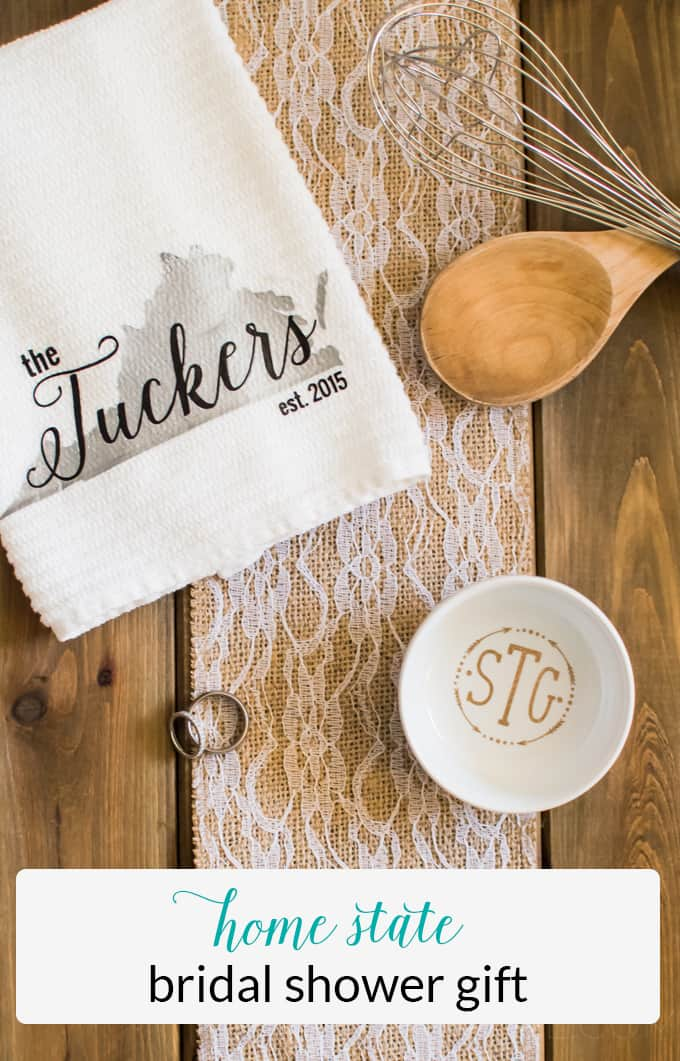 Bridal Shower Gift | Monograms | Monogram Craft | Heat Transfer Vinyl | Vinyl Crafts | Silhouette Cameo Crafts | Silhouette Cameo