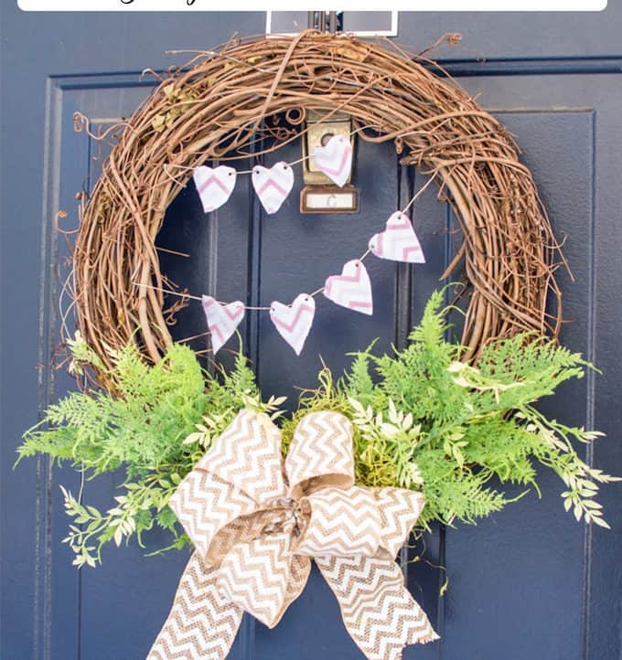 Grapevine Wreath | Valentine's Day Wreath | Valentine's Day Crafts | DIY | Home Decor | Holiday Crafts | Valentine's Day DIY