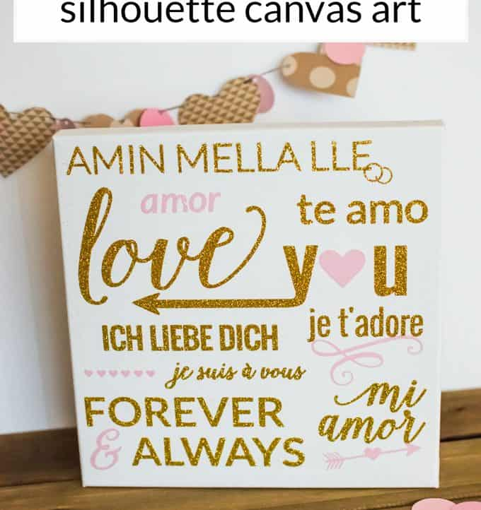 I Love You Silhouette Canvas Art