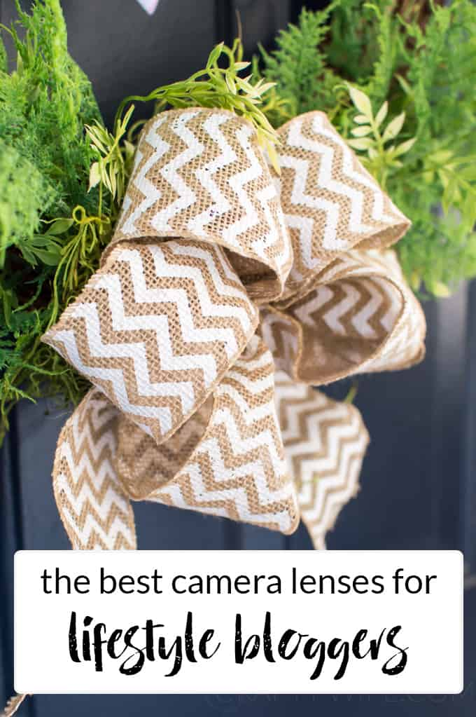 Improve your blog photography by upgrading your camera equipment with one of my three favorite camera lenses for lifestyle photographers.