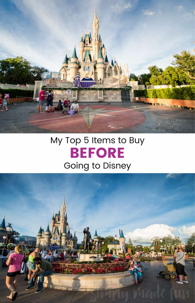 Be prepared for your vacation and pick up these five items you must buy before going to Disney!
