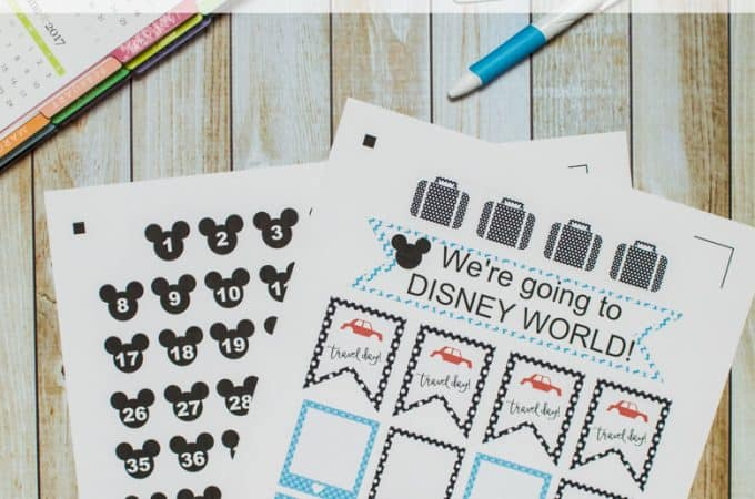 Disney World Planner Stickers