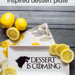 Game of Thrones Inspired Dessert Plate