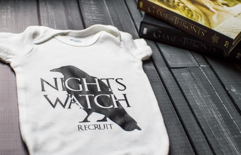 Celebrate your love of the Night's Watch with this Game of Thrones onesie! A perfectly simple silhouette project to make just in time for season six!