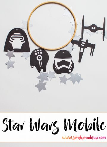 Celebrate the release of The Force Awakens with this easy DIY Star Wars mobile! Perfect for those Empire-loving Star Wars fans!