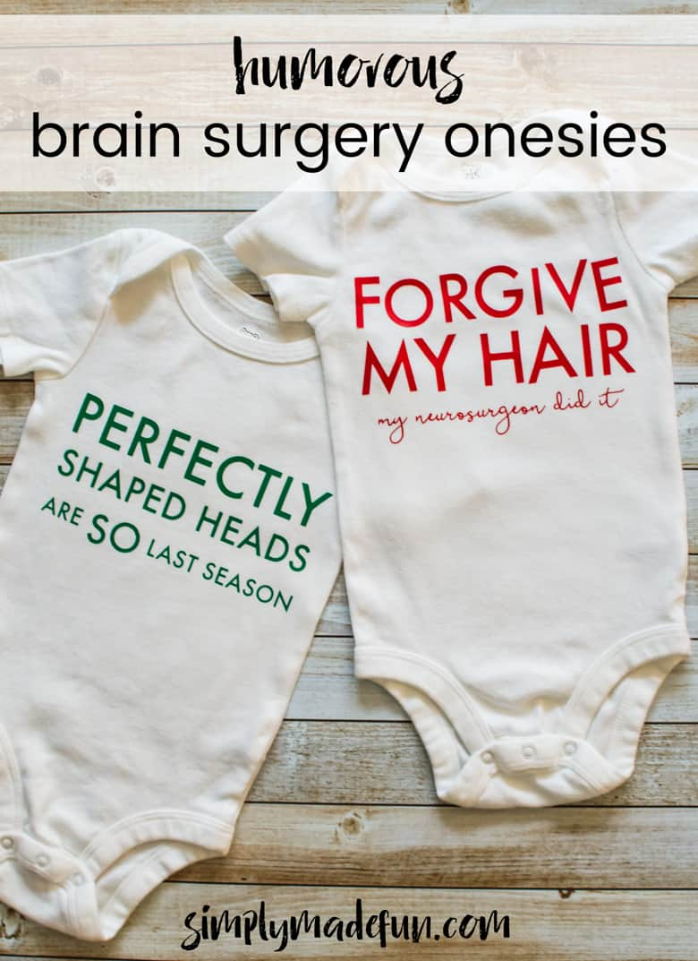 Keep the mood light and let others know that you love looking on the bright side of things with these humorous brain surgery onesies.