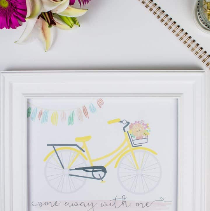 Come Away With Me Travel Printable