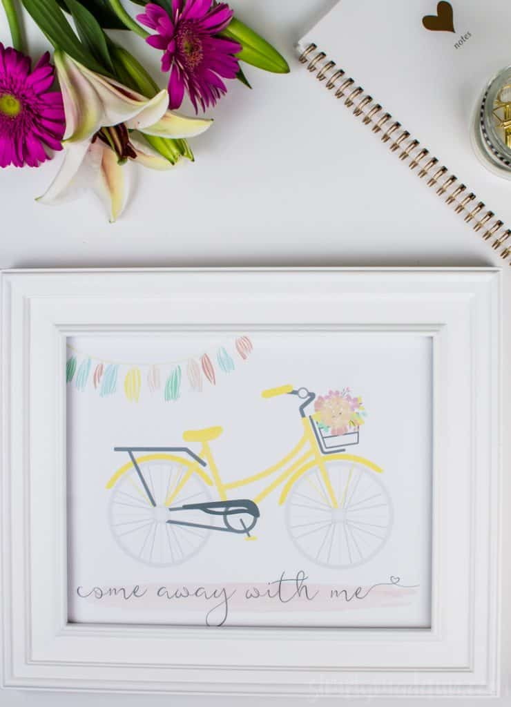 Display this sweet and simple Come Away With Me travel printable as a reminder to get lost and make memories with the ones you love this summer.