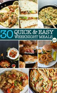 WeeknightMealsPinterest
