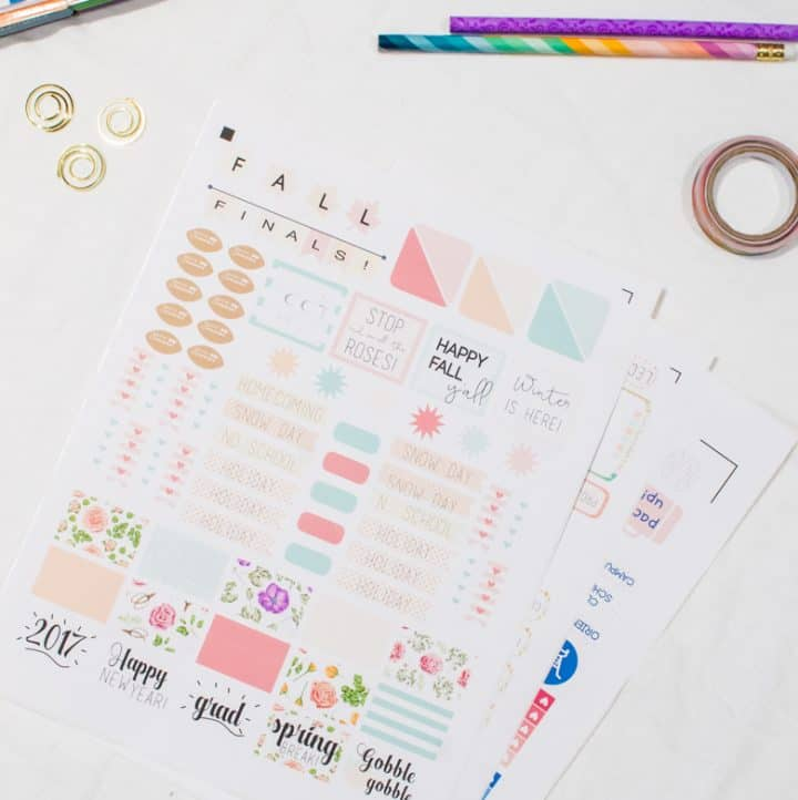 Back-to-School Organization Stickers
