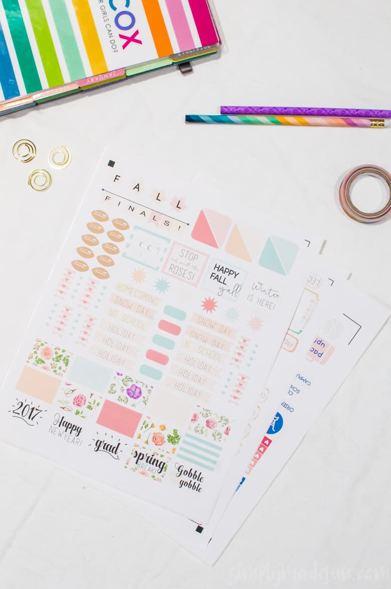 Start the school year off right with these cute and functional back-to-school organization stickers! FREE Silhouette files to download! #CreateWithHP [ad]