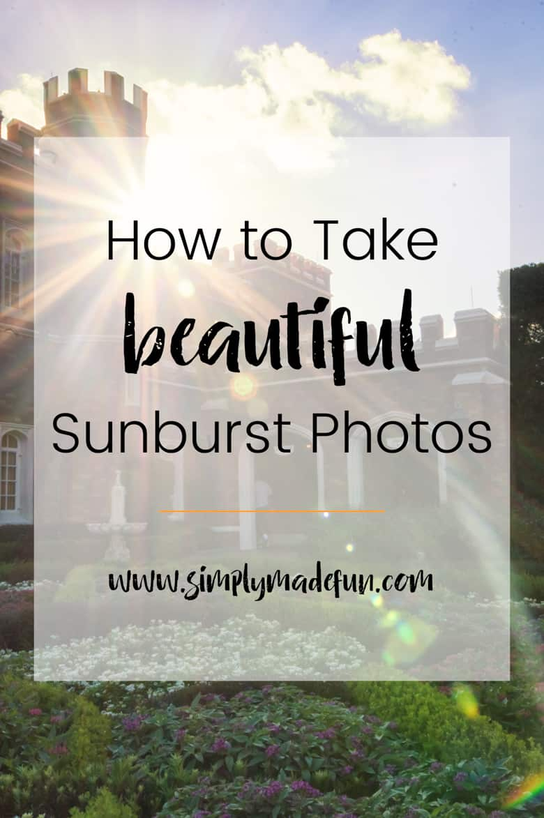 Learn how to take beautiful sunburst photos with just a few simple steps! Find out what equipment I use and why, and how that helps me capture my photos!