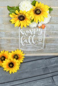 Celebrate Fall in Southern-style using my FREE Fall silhouette file and make your very own mason jar sign! So cute if you love rustic decor!