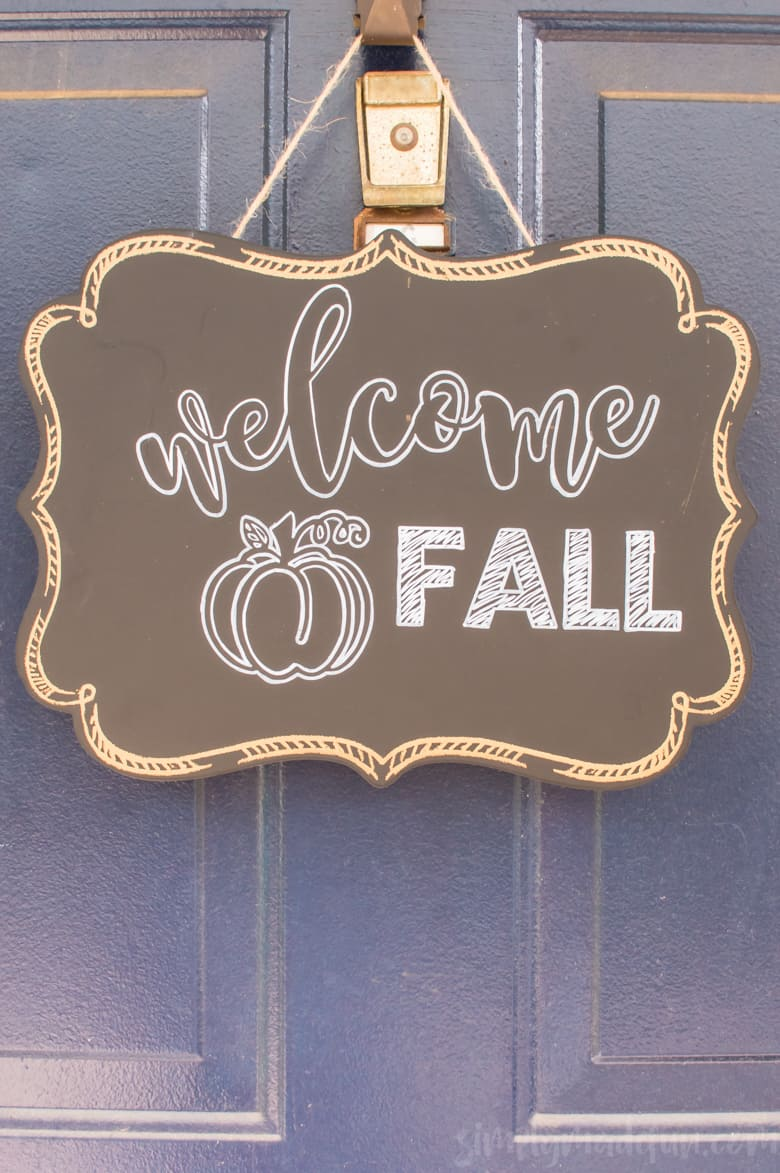 How To Make Your Own Welcome Fall Sign