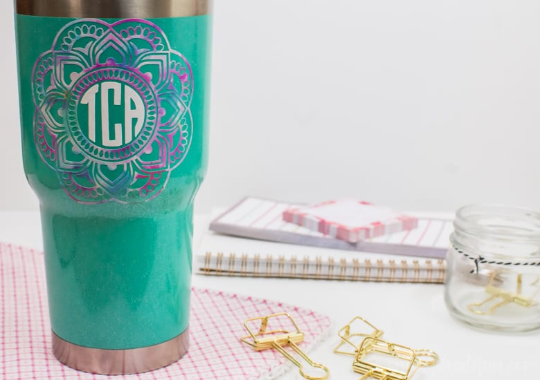 How to Layer Permanent Vinyl on a Coffee Tumbler