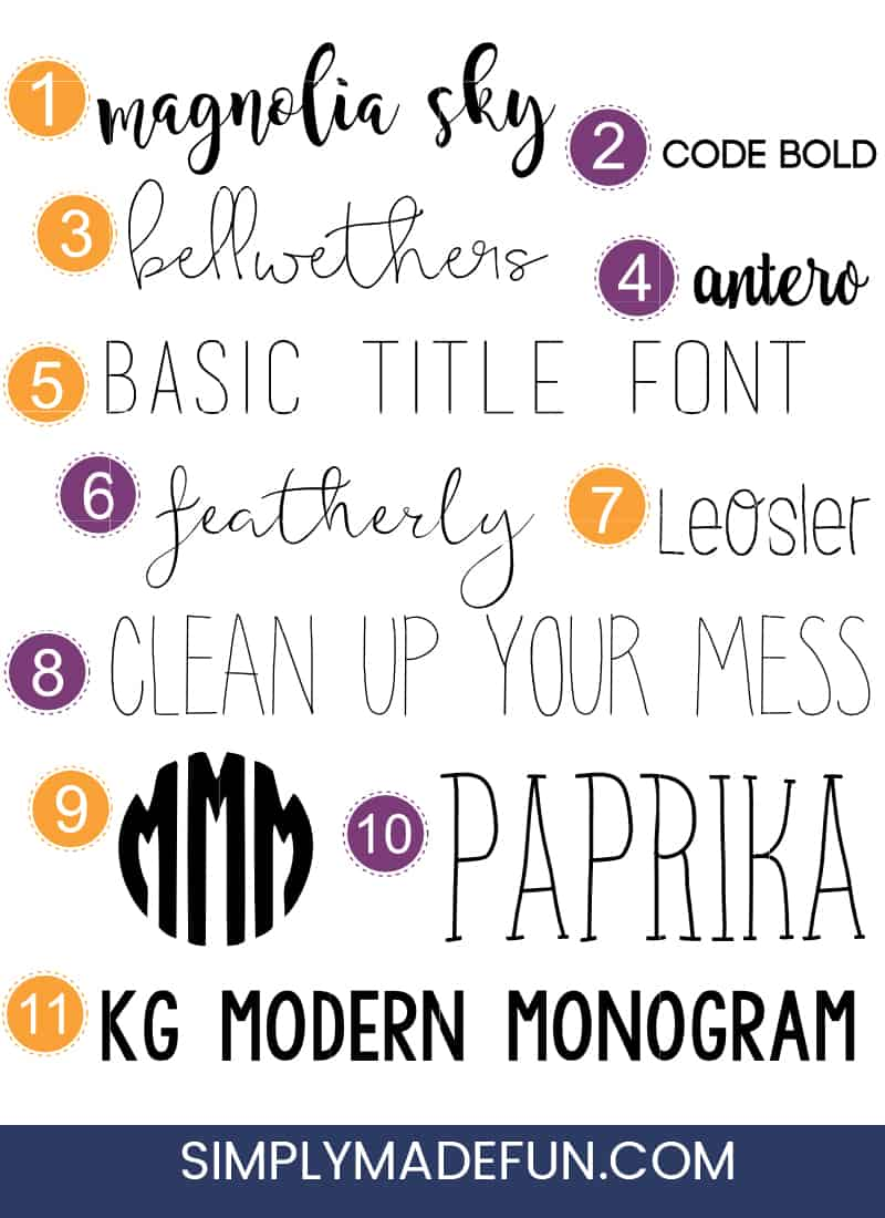 Fonts | Silhouette Cameo | Free Fonts | Script Fonts