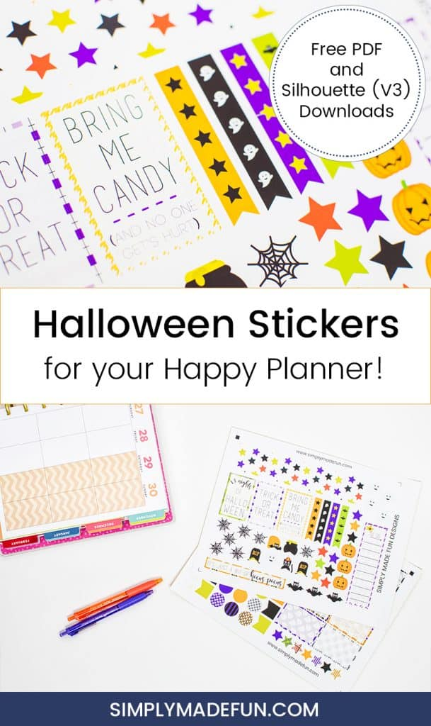 Halloween Stickers | Happy Planner | Free Printable | Halloween Printable | Holiday Crafts