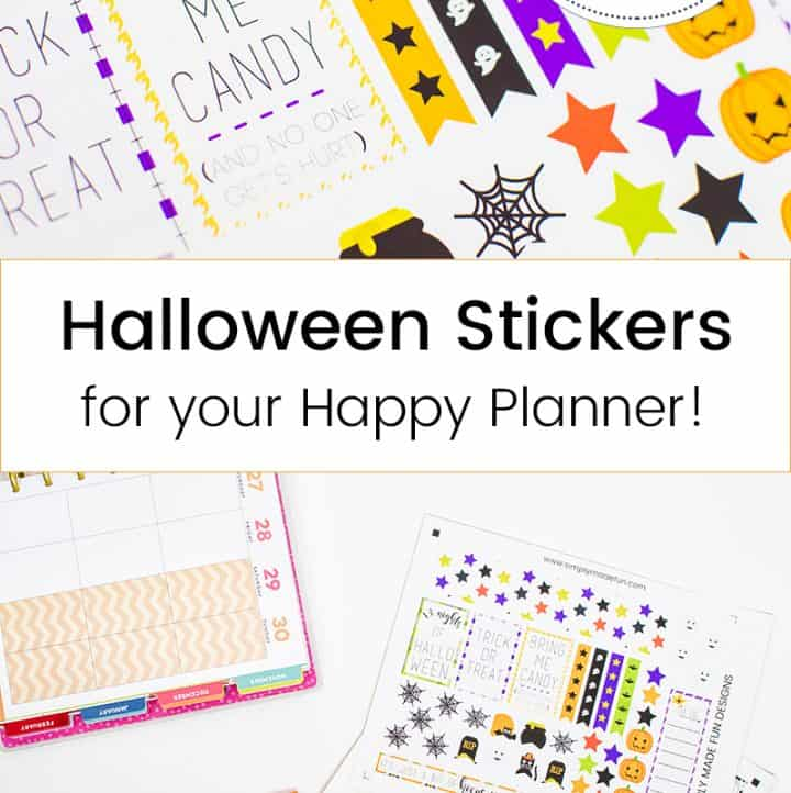 Make Your Own Happy Planner Halloween Stickers