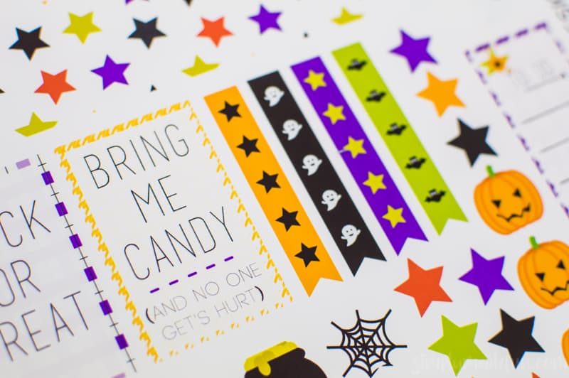 photograph regarding Halloween Stickers Printable named Create Your Particular Satisfied Planner Halloween Stickers
