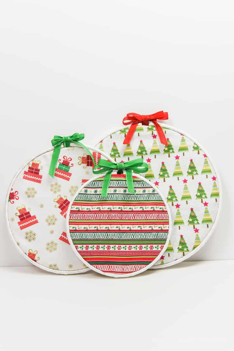 Christmas Crafts | Christmas Decor | Fabric Ornaments | DIY Christmas Ornaments
