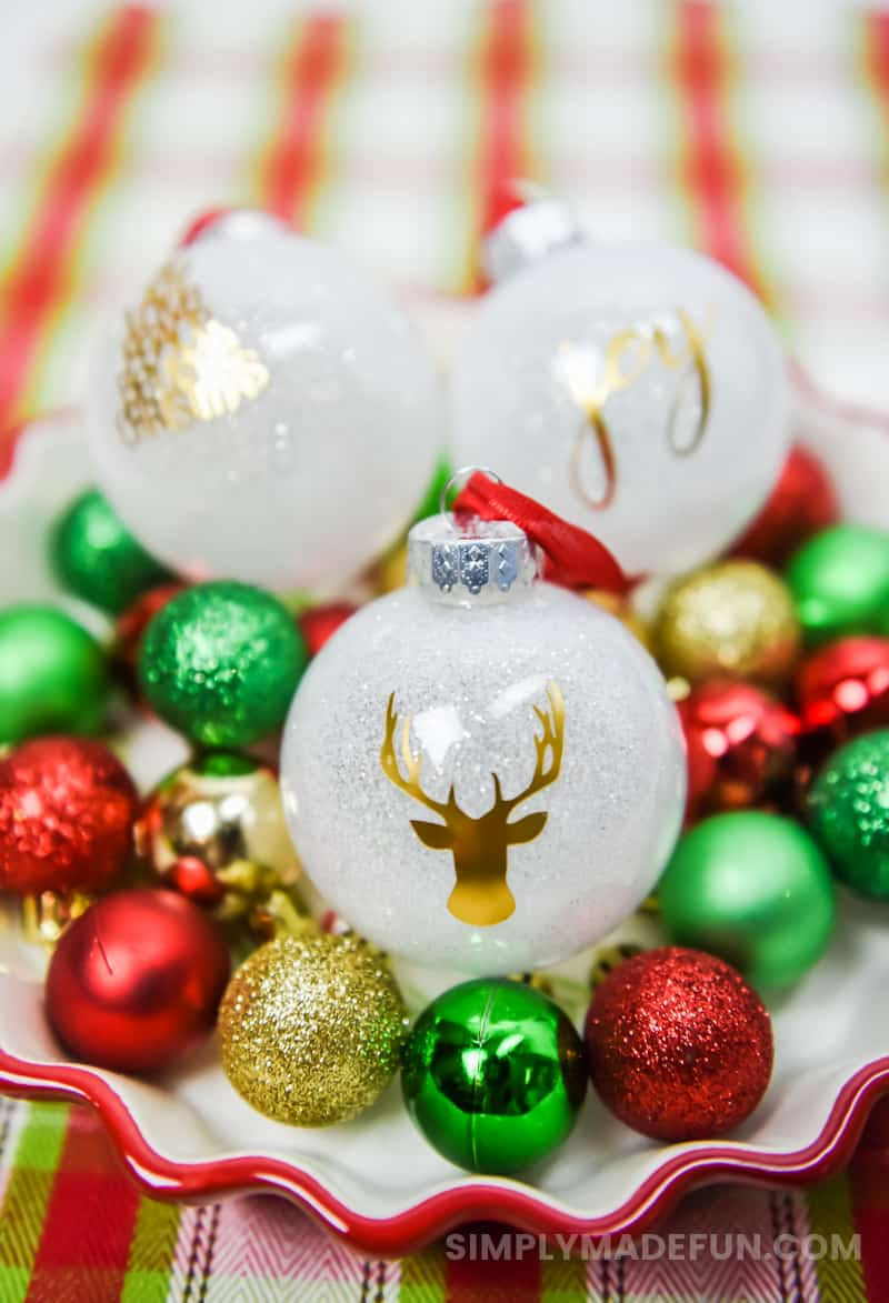 Christmas Crafts | Christmas Ornaments | Glittered Christmas Ornaments | Christmas Decorations