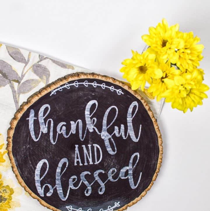 DIY Thankful Chalkboard