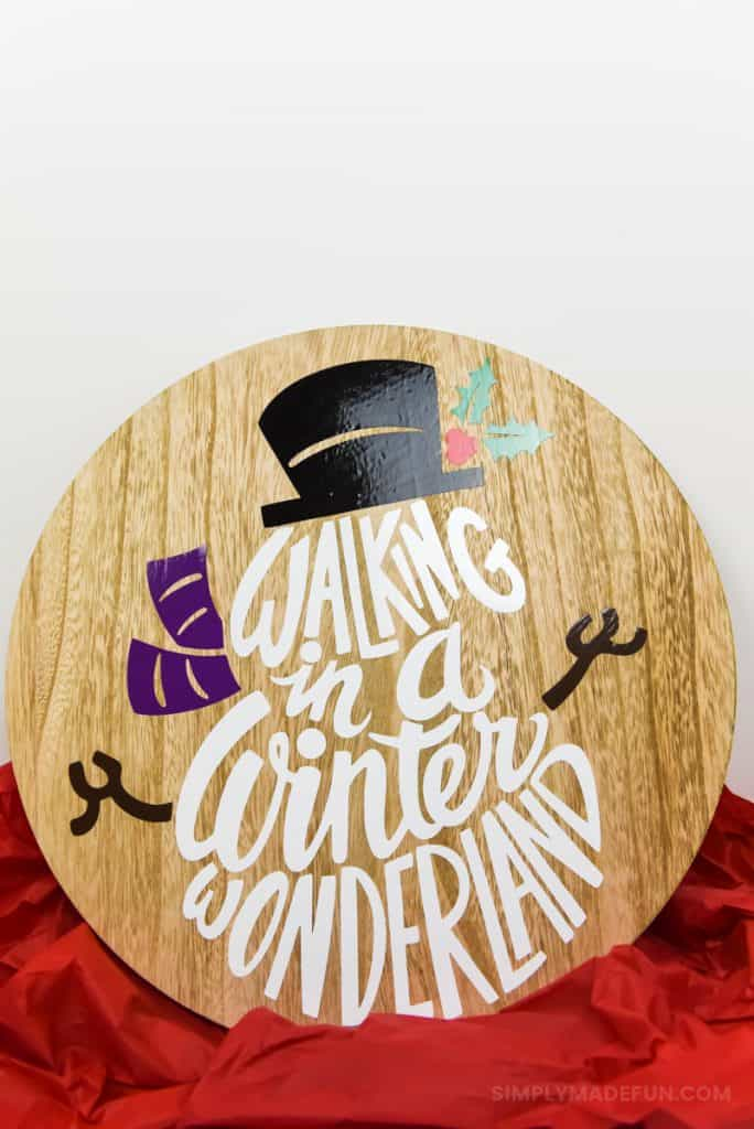 Christmas Crafts | Christmas Ideas | Snowman Crafts | Silhouette Cameo Crafts | Vinyl Crafts
