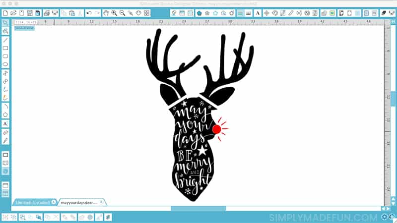 DIY Hand Lettered Rudolph Craft