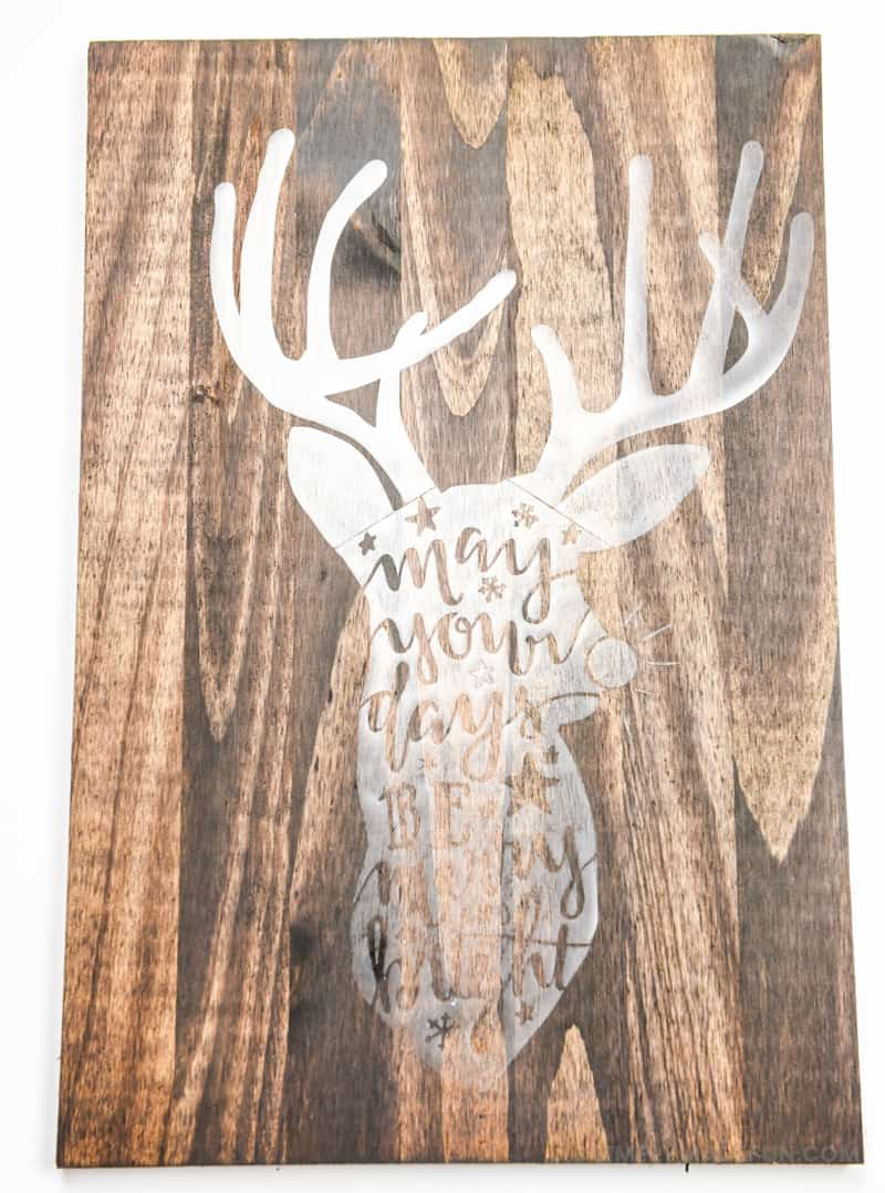 Hand Lettered Rudolph Craft   Christmas Ideas   Christmas Crafts   Christmas DIY   Vinyl Crafts