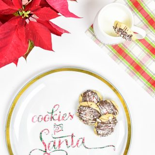 DIY Vinyl Cookies for Santa Plate