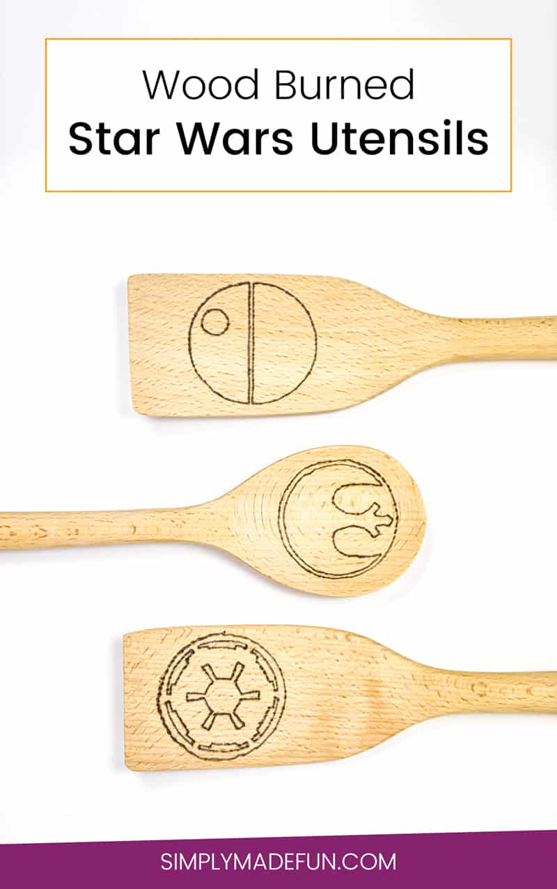 Wood Burned Crafts | Wood Burned Utensils | Star Wars Crafts | Star Wars Utensils