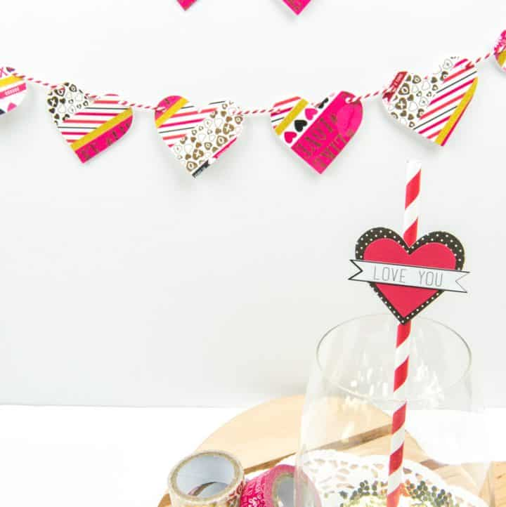 Make Your Own Washi Tape Heart Garland