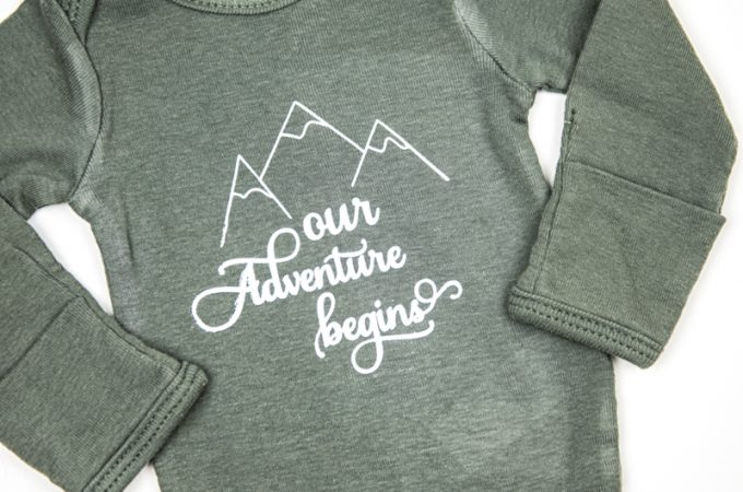 Coming Home Hospital Onesie | Newborn Onesie | Baby Clothes | Vinyl Crafts | Silhouette Cameo | Silhouette Cameo Crafts | Baby Shower Gift