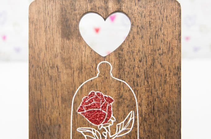 DIY Beauty and the Beast Enchanted Rose Art