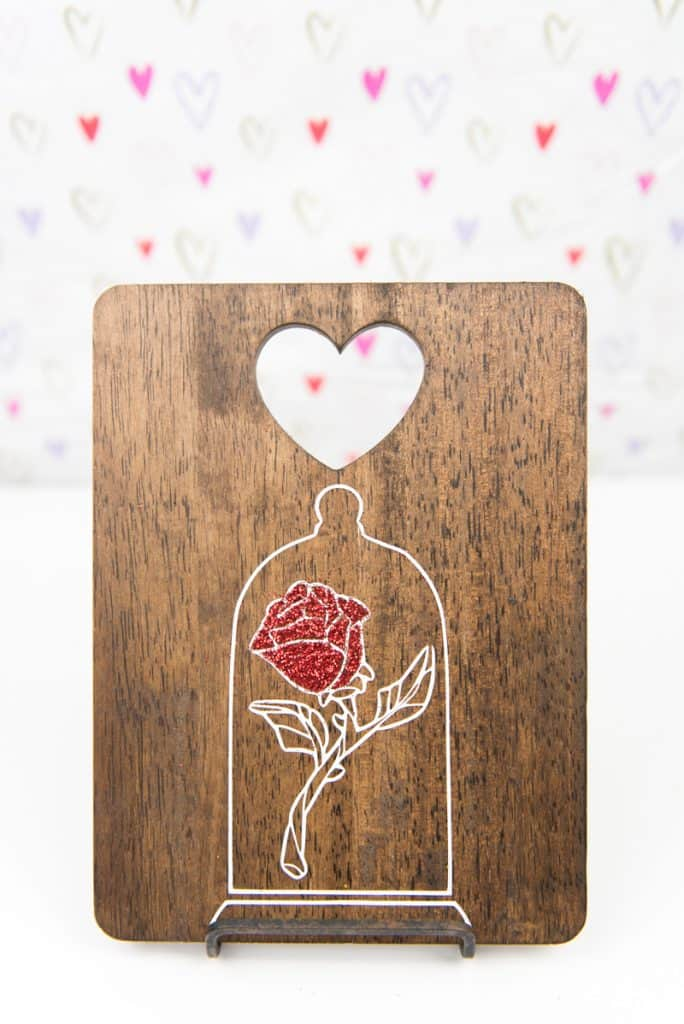 Beauty and the Beast Enchanted Rose Art | Disney Crafts | Silhouette Cameo Crafts | Vinyl Crafts | Beauty and the Beast | Belle Crafts
