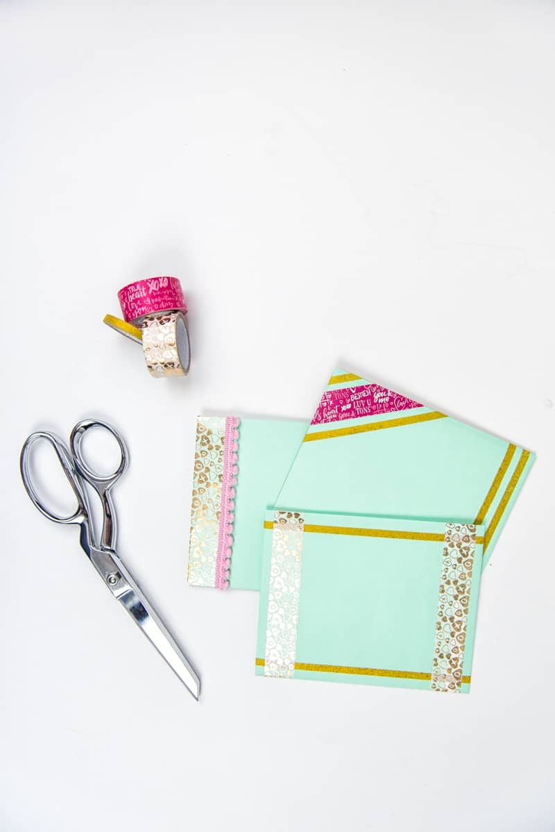 Three Ways to Decorate Envelopes with Washi Tape