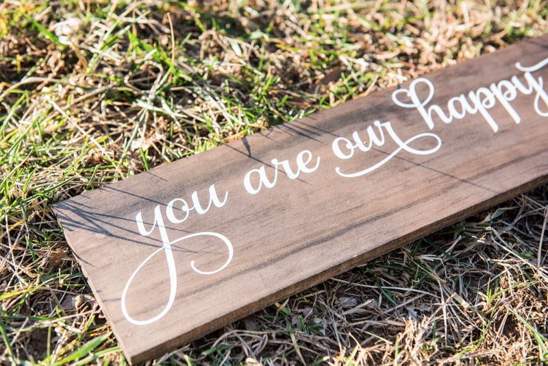 Wooden Nursery Sign - This easy DIY is the perfect addition to any Disney or Peter Pan themed nursery or bedroom! Paint or stain your wood board and then use your Silhouette Cameo to cut out your saying in vinyl. Hang pictures from it or use it on a gallery wall to bring a little Disney magic into your home.