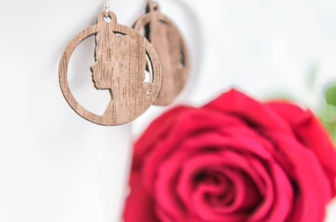 Make Faux Wood Beauty and the Beast Earrings