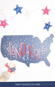 Land of the free decor | 4th of July crafts | 4th of July decor | 4th of July decorations | Silhouette Crafts | Silhouette Vinyl Crafts | Vinyl Crafts | 4th of July Crafts DIY