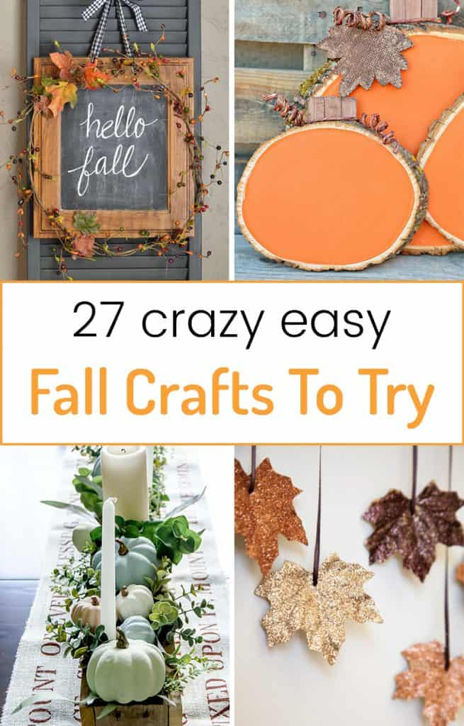 Easy Fall Crafts - I love decorating my home for each season with wood, paper, and fabric crafts! Fall home decor is my favorite and this roundup is full of easy crafts you can make in an afternoon.
