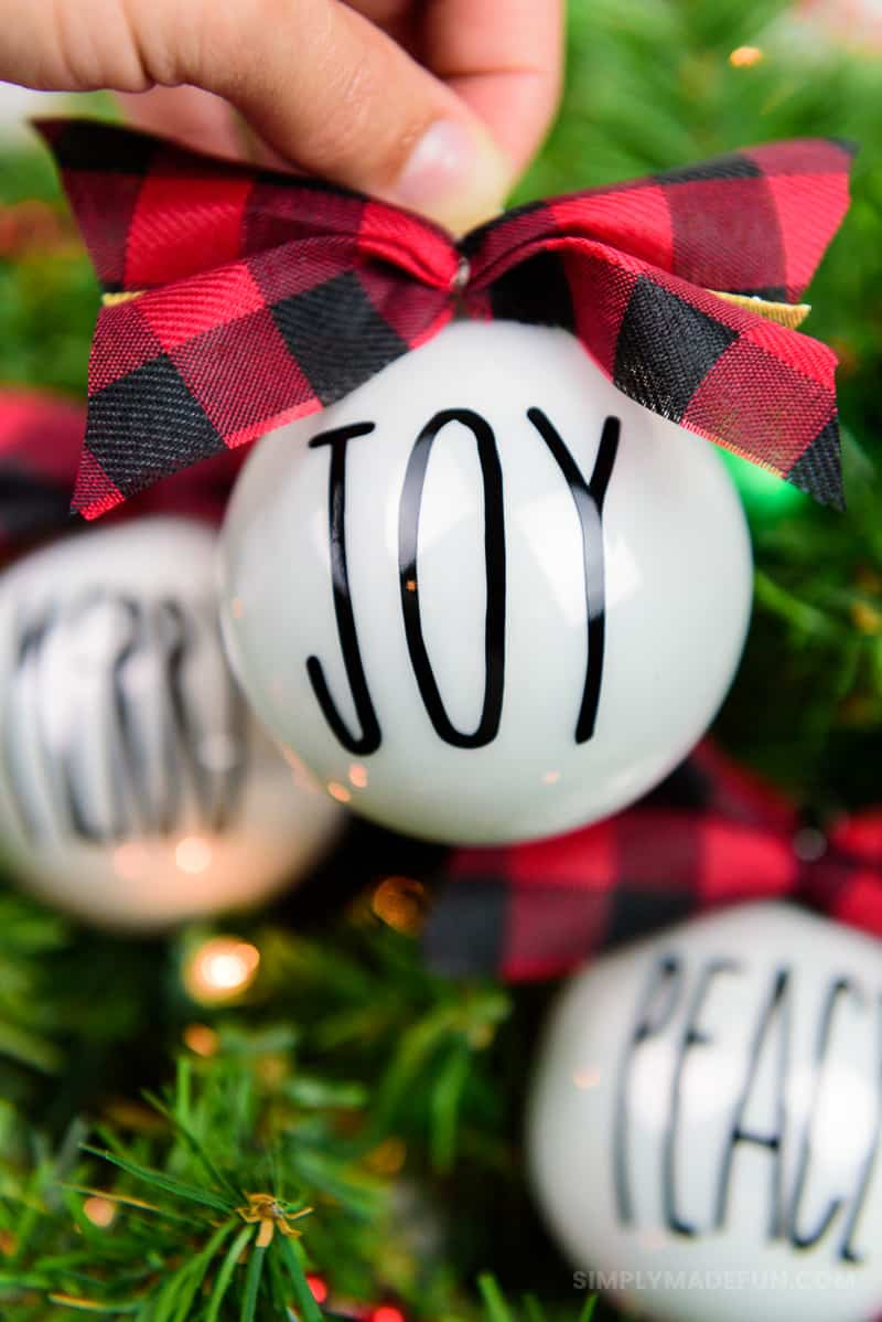 Rae Dunn Inspired Christmas Ornaments Simply Made Fun