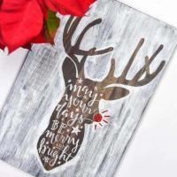Hand Lettered Rudolph Sign