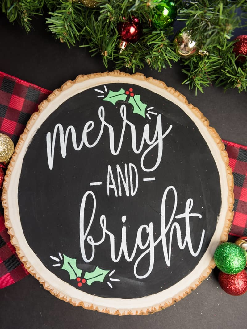 Christmas Sign.Reversible Merry And Bright Christmas Sign Simply Made Fun