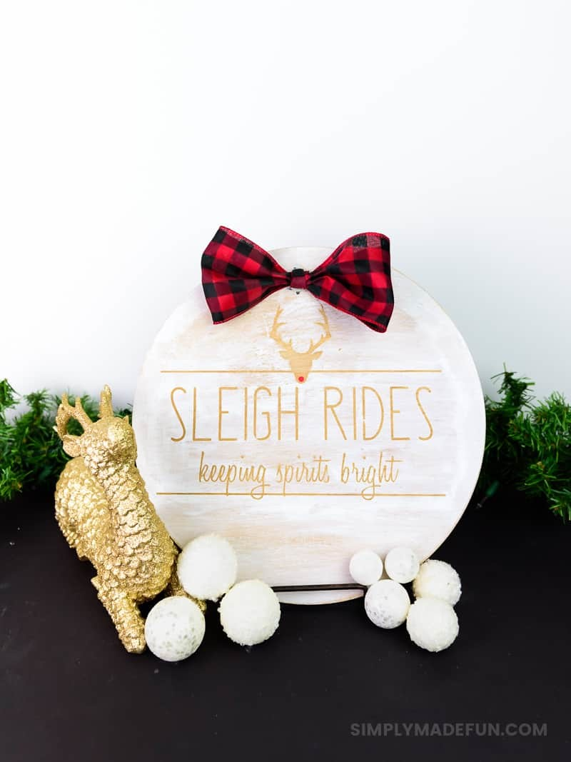 Rae Dunn Inspired Wooden Holiday Sign Simply Made Fun