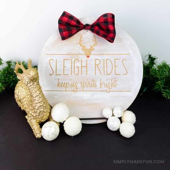 Rae Dunn Inspired Wooden Holiday Sign