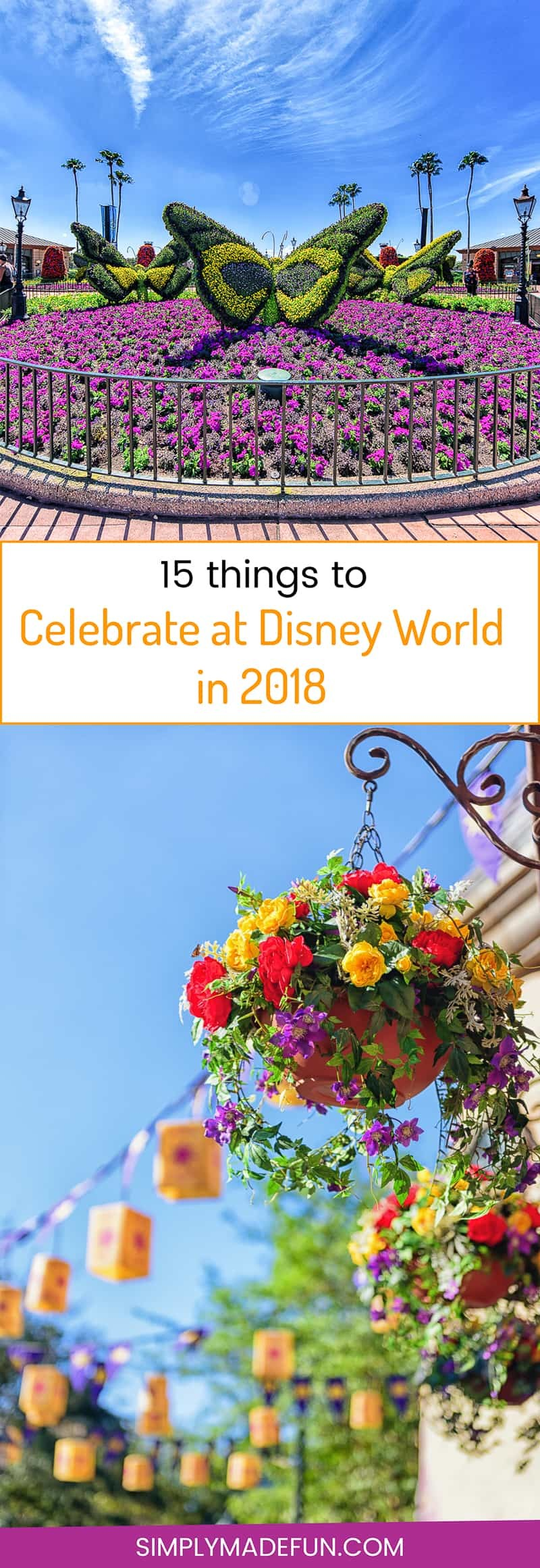 Celebrate at Disney World in 2018 - There are new and exciting things happening at Disney World this year as well as some fun old celebrations and activities coming back to the parks. Check out all the reasons why 2018 should be the year YOU celebrate your family vacation at Disney World!